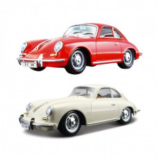 Автомодель - PORSCHE 356B (1961) (асорти слонова кістка, червоний, 1:24)