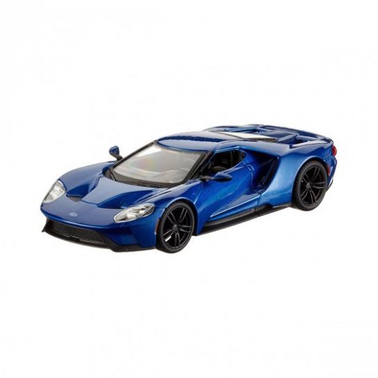 Автомодель - FORD GT (блакитний,сріблястий металік 1:32)