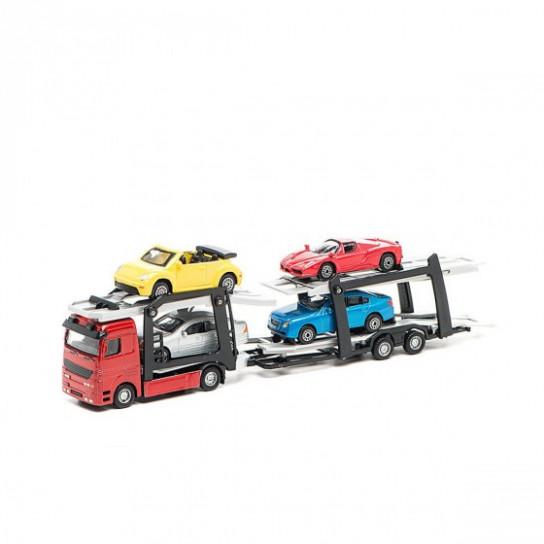 Игровой набор - АВТОПЕРЕВОЗЧИК (автоперевозчик, 4 легковые машинки)