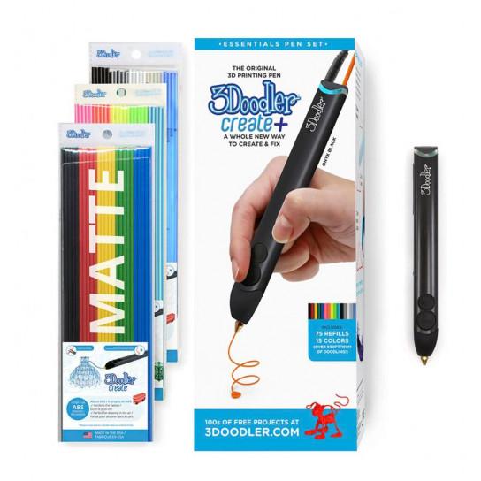 3D-Ручка 3Doodler Create Plus Для профессионального использования - Черная