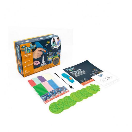 3D-Ручка 3Doodler Start Для Детского Творчества - Мегакреатив (192 Стержня, 8 Шаблонов)