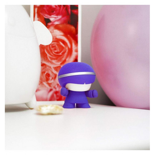 Акустика Xoopar - Mini Xboy (7,5 Cm, Фиолетовая, Bluetooth, Моно)
