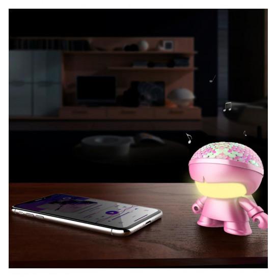Акустика Xoopar - Mini Xboy (7,5 Cm, Розовая С Пайетками Металлик, Bluetooth)