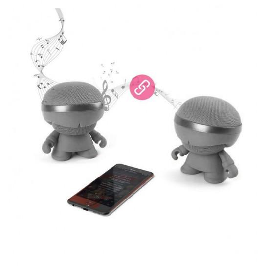 Акустика Xoopar - Xboy Glow (12 Cm, Серая, Bluetooth, Стерео, С Mp3-Проигрывателем С Sd-Карты)
