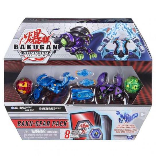 Bakugan Armored Alliance: Боевой набор из четырех бакуганов с оружием (Ниллиус и Гидориус)