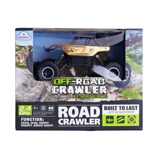 Автомобиль OFF-ROAD CRAWLER на р/у – ROCK SPORT (золотой, аккум. 3,6V, метал. корпус, 1:20)