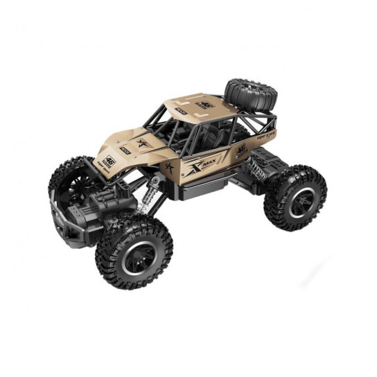 Автомобиль OFF-ROAD CRAWLER на р/у – ROCK SPORT (золотой, аккум. 3,6V, метал. корпус, 1:20)