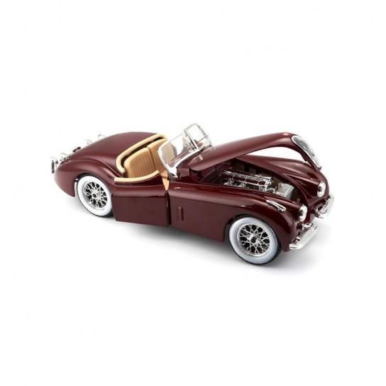 Автомодель - JAGUAR XK 120 (1951) (асорти вишневий, сріблястий, 1:24)