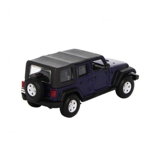 Автомодель - JEEP WRANGLER UNLIMITED RUBICON (ассорти зеленый металлик, тёмно-синий, 1:32)