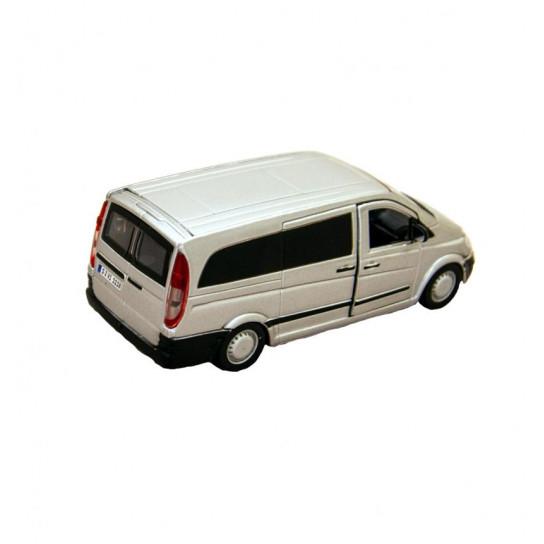Автомодель - MERCEDES-BENZ VITO (серебристый, 1:32)