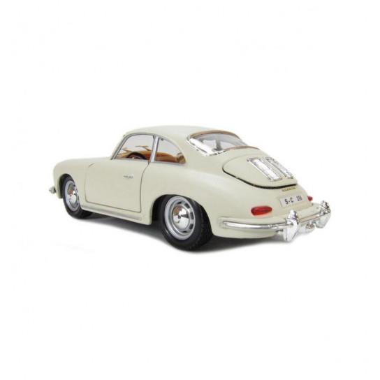 Автомодель - PORSCHE 356B (1961) (ассорти слоновая кость, красный, 1:24)