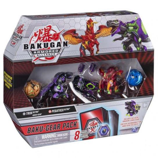 Bakugan Armored Alliance: Боевой набор из четырех бакуганов с оружием (Трокс и Пегатрикс)