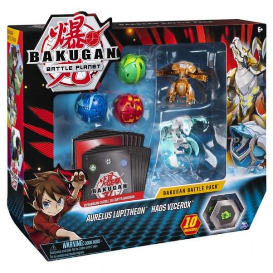Bakugan Battle Planet: большой набор из 5 бакуганов Люпитреон и Вайсрокс