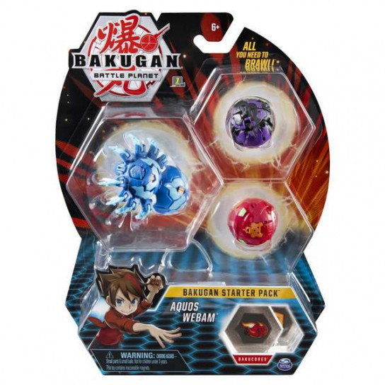 Bakugan Battle Planet: набор из 3х бакуганов Аквас Вебам