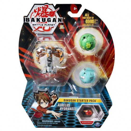 Bakugan Battle Planet: набор из 3х бакуганов Аурелиус Гидраноид
