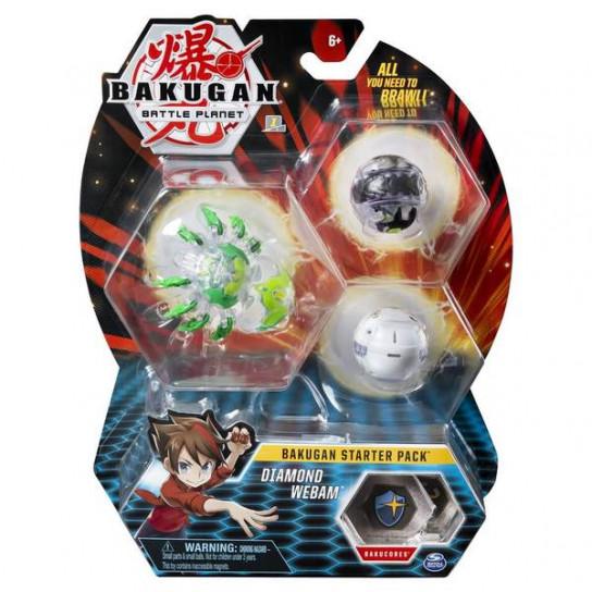 Bakugan Battle Planet: набор из 3х бакуганов Даймонд Вебам