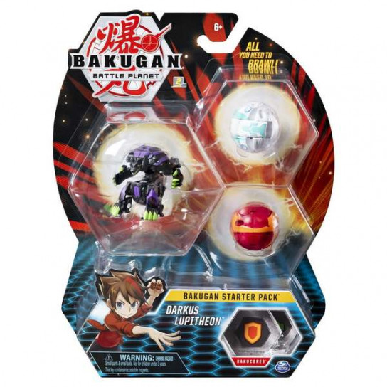 Bakugan Battle Planet: набор из 3х бакуганов Даркус Люпитеон