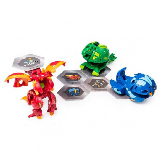 Bakugan Battle Planet: набор из 3х бакуганов Драгоноид