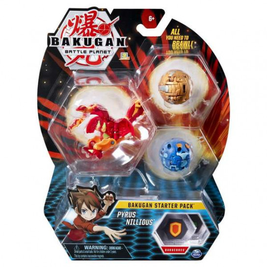 Bakugan Battle Planet: набор из 3х бакуганов Пайрус Ниллиус