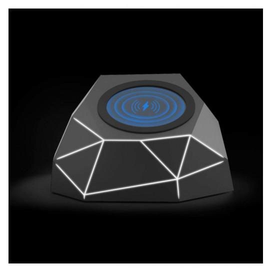 Беспроводное Зарядное Устройство Xoopar - Geo Dock (Черное С Белой Led-Подсветкой)