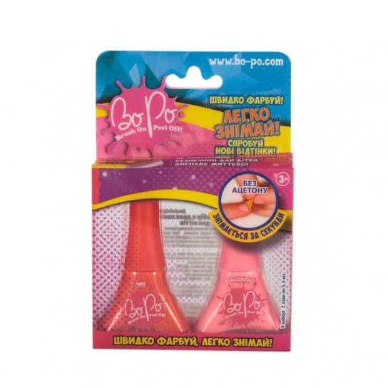 BoPo: Набор из двух лаков (красный и розовый)