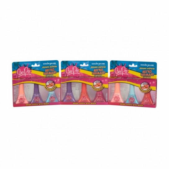 BoPo: набор из трех лаков (фиолетовый, красный, малиновый)