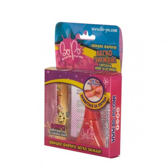 BoPo Набір з лаку для нігтів (червоний) та блиску для губ