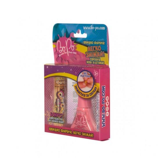 BoPo: Набор лак (светло-розовый) и блеск для губ