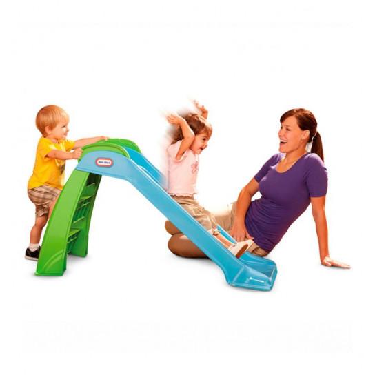Горка складная для малышей - Первый спуск