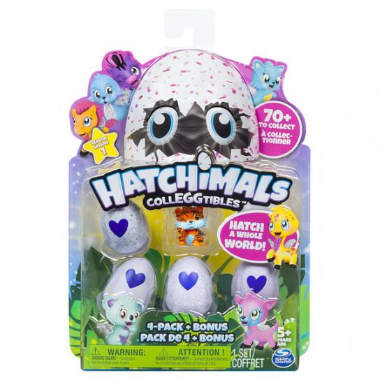 Hatchimals CollEGGtibles: Набор из четырех коллекционных фигурок в яйцах + бонусная фигурка (в ассортименте) Сезон 1