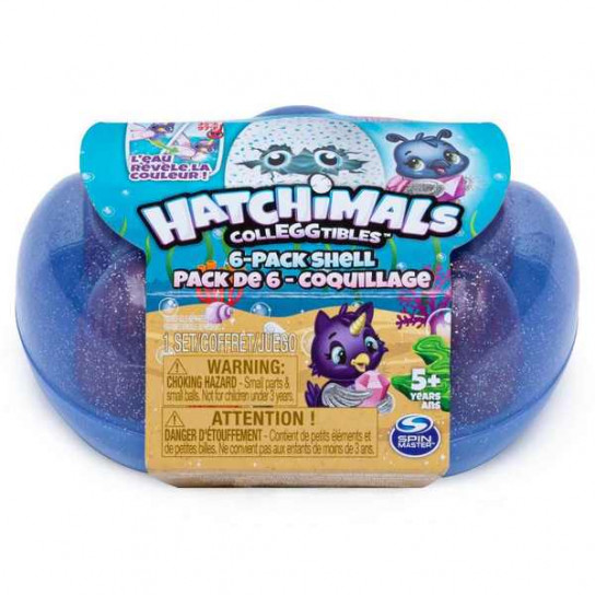 Hatchimals: набор из голубой ракушки и 6 фигурок (сезон 5)