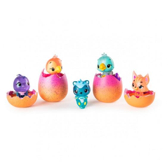 Hatchimals:набор из четырех коллекционных фигурок в яйцах + бонусная фигурка (сезон 4)