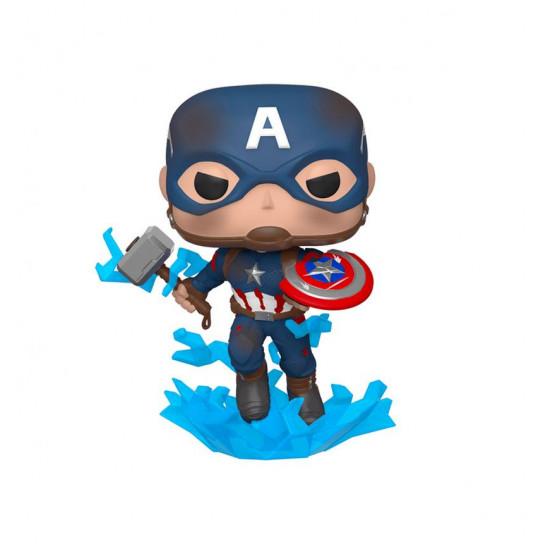"""Игровая фигурка Funko POP! cерии Мстители:Финал"""" - Капитан Америка с мьёльниром"""""""
