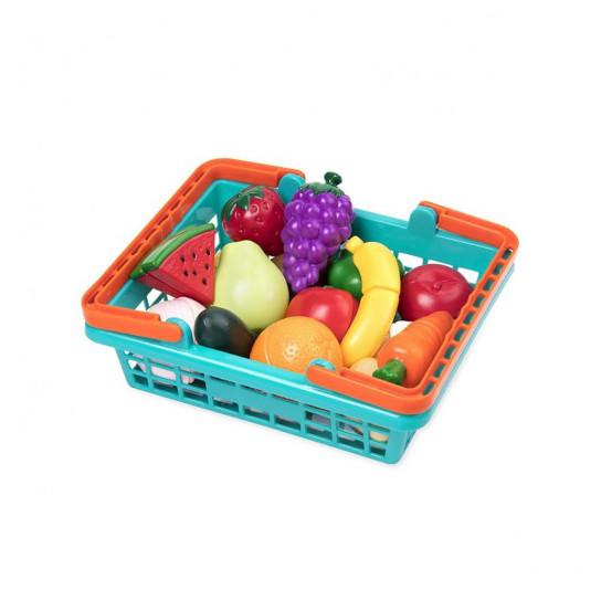Игровой Набор Для Двоих - Овощи-Фрукты На Липучках