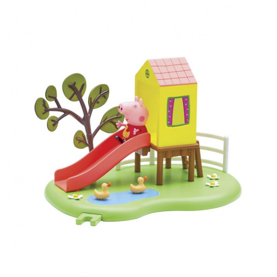 Игровой набор Peppa - ИГРОВАЯ ПЛОЩАДКА ПЕППЫ (домик с горкой, фигурка Пеппы)