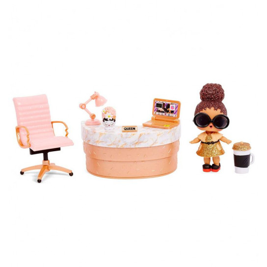 Игровой набор с куклой L.O.L. Surprise! серии Furniture  S2 - Кабинет Леди-Босс