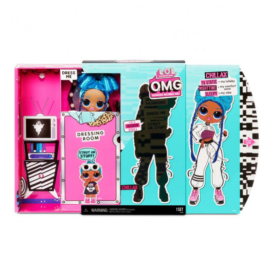 Игровой набор с куклой L.O.L. Surprise! серии O.M.G  S3 - Леди-Релакс