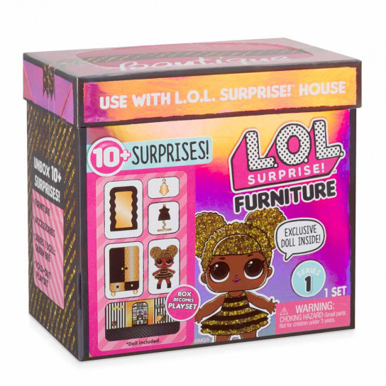 Игровой набор с куклой L.O.L. SURPRISE! - СТИЛЬНЫЙ ИНТЕРЬЕР КОРОЛЕВЫ ПЧЕЛКИ