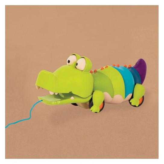 Игрушка-Каталка На Веревочке - Крокодил Клац-Клаус