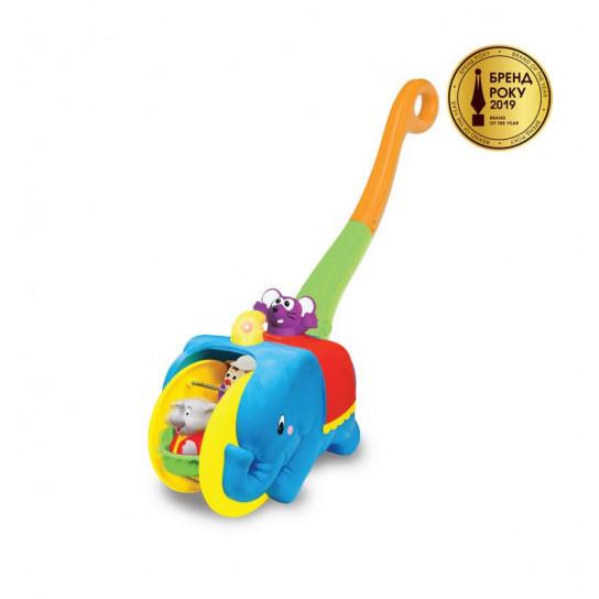Игрушка-Каталка - Слон-Циркач (Русский)