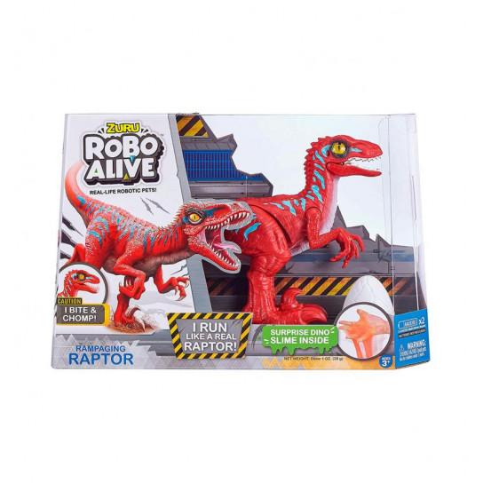 Интерактивная игрушка Robo Alive - Красный велоцираптор