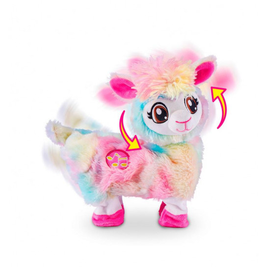 Интерактивная мягкая игрушка Pets Alive Радужная танцующая лама