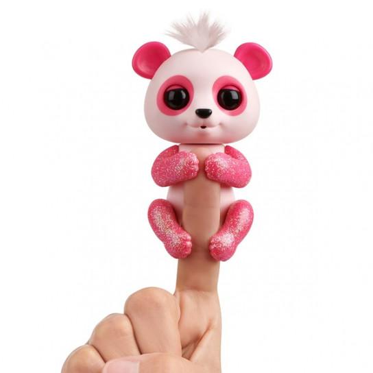 Интерактивная ручная панда Полли (розовая)