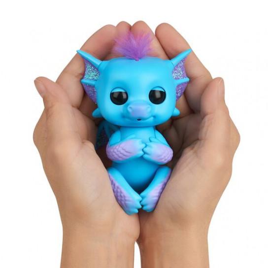 Интерактивный ручной дракончик Тара (темно-синий)