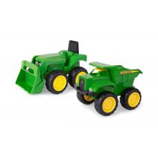John Deere:набір з міні трактора з ковшем та самоскидом