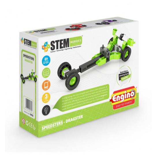 Конструктор Stem Heroes - Спортивные Автомобили: Драгстер