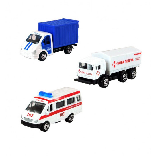 Мини-модели служебный транспорт - МАШИНКА В ЯЙЦЕ (в диспенсере, ассорти)