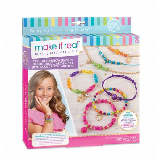 Make it Real: Набор для создания шарм-браслетов «Хрустальная радуга»