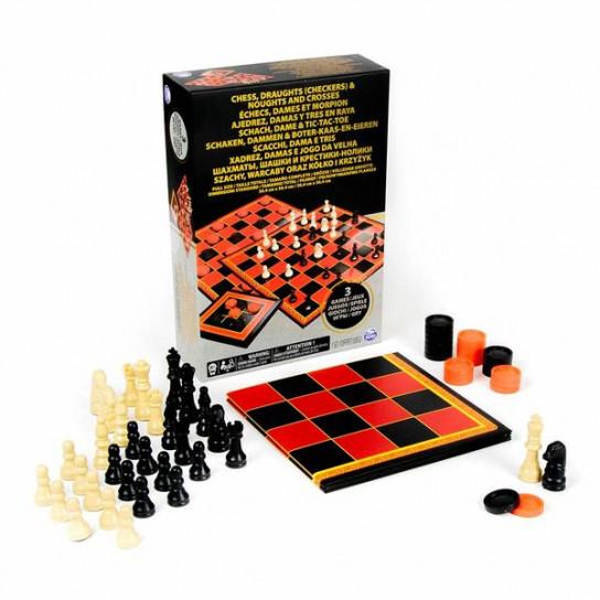 Набор из трех настольных игр Шахматы, шашки и крестики-нолики