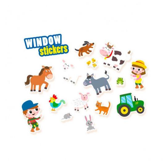 Набор Наклеек На Окна - Веселая Ферма